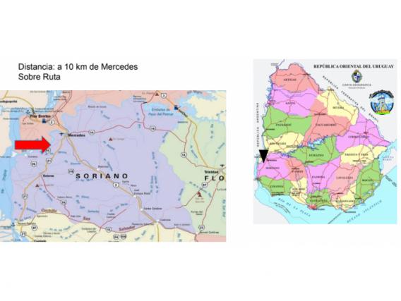 Fazenda em Soriano Uruguai de 524 Hectáres