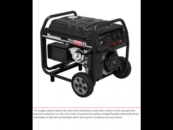 Gerador À Gasolina Tg10000Cxe - 9000W Monofásico C Avr Bivolt Sens Oleo P - Toyama