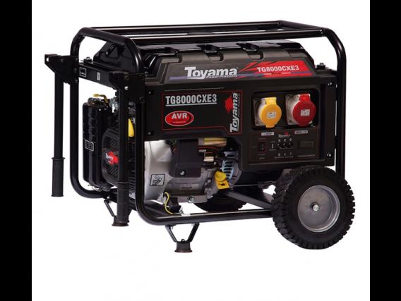 Gerador À Gasolina Tg8000Cxe3 Novo - 8.0Kva C Avr - Trifásico 380V - Tq.2 - Toyama