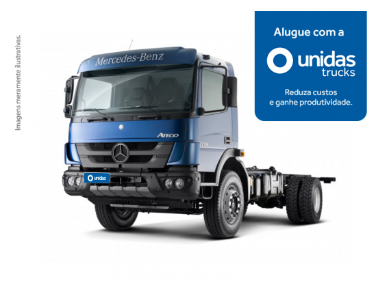 Locação Caminhão Mercedes Benz Atego 1719 4x2