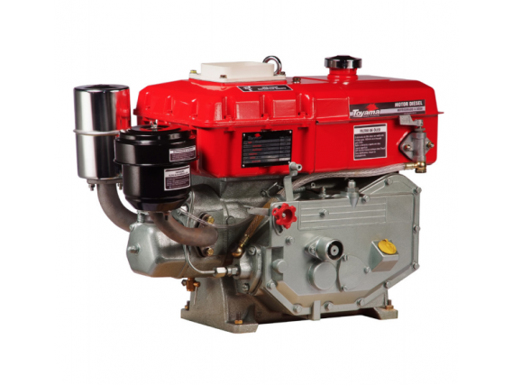 Motor À Diesel Refrigerado Água - 402Cc - 7,7 Hp 2.600Rpm-Sifão- Inj.Indir. Pe - Toyama