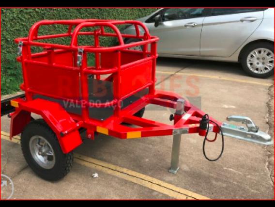 Carretinha Para Transporte De Gas Reboques Vale Do Aço