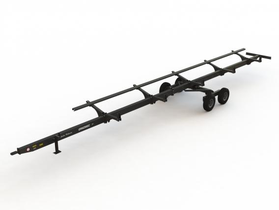 Carreto Grazmec Para Transporte De Plataforma Robusta