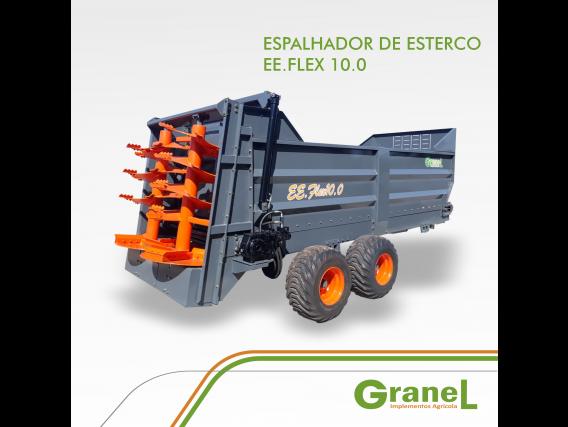 Espalhador De Esterco Granel Ee.flex 10.0 - 10 Ton