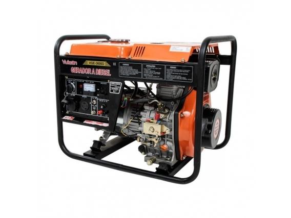 Gerador Vge3600D 3600W Bivolt Motor Diesel 7Hp Vulcan