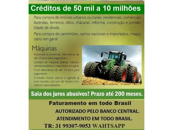 Linha De Credito Rural 50 Mil A 5 Milhõe