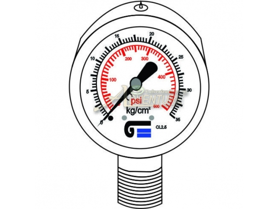 Manômetro Pressão 120 Bar S 40