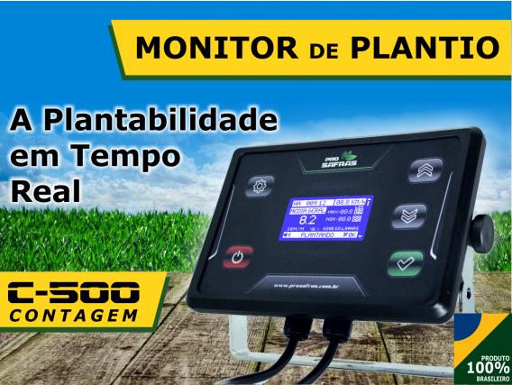 Monitor De Plantio 7 Linhas Contagem C500 - Pro Safras