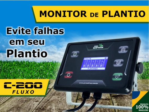 Monitor De Plantio 7 Linhas Fluxo C-200 Pro Safras