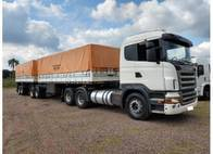 Conjunto Caminhão Scania G420 e Bitrem Graneleiro