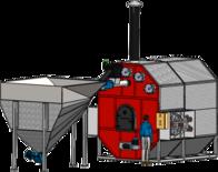 Fornalha Alimentador De Biomassa Redivo Tittan Tar-3000